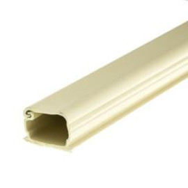 1.75 Inch Surface Mount Cable Raceway, Ivory, Straight 6 Foot Section