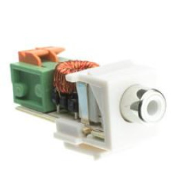 Keystone Insert, White, Rca Female To Balun Over Twister Pair (White Rca), Working Distance 350 Foot