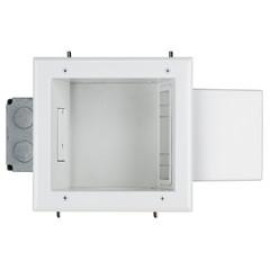 Expandable Media Box With 20 Amp Receptacle, White