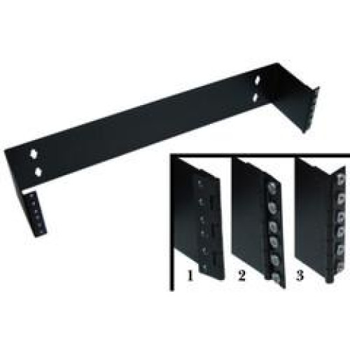 Rackmount Hinged Wall Mounting Bracket, 2U, Dimensions: 3.5 (H) X 19 (W) X 6 (D) Inches
