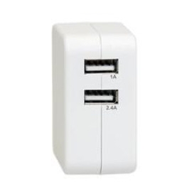 2 Port Usb Wall Travel Charger, White, 3.4 Amps For Powering Smart Phones, Tablets, And Other Usb Powered Devices