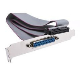 Motherboard Parallel Port To Slot Cover Cable, Idc 26 To Db25 Female 18 Inch