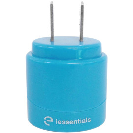 Iessentials 2.1-amp Dual-usb Home Charger (blue)