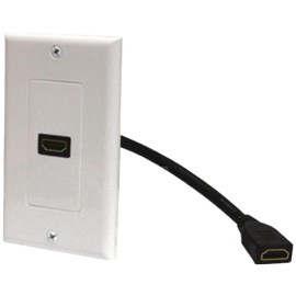Steren Hdmi Wall Plate & Pigtail