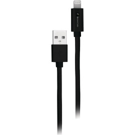 Iessentials Braided Usb Cable With Lightning Connector, 10ft (black)