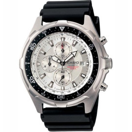 Men's Casio Dive Style Stainless Steel Chronograph Watch