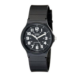 Casio Unisex Classic Luminous Hands Watch With Black Resin Band
