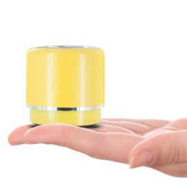 Mini-BOOM Wireless Bluetooth Speaker with Rechargeable Battery (Yellow)