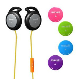 Maxell Action Kids Kid Safe Earclips On-Ear Headphones with Microphone