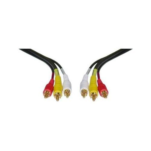 Cablewholesale 3-Feet Stereo/Vcr Rca Cable, 2 Rca (Audio) + Rca Rg59 Video Gold Plated (10R3-01103)