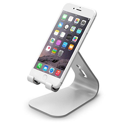 Elago M2 Stand [Silver] - [Premium Aluminum][Angled For Video Calls][Cable Management] - For All Iphones, Galaxy, And Other Smartphones