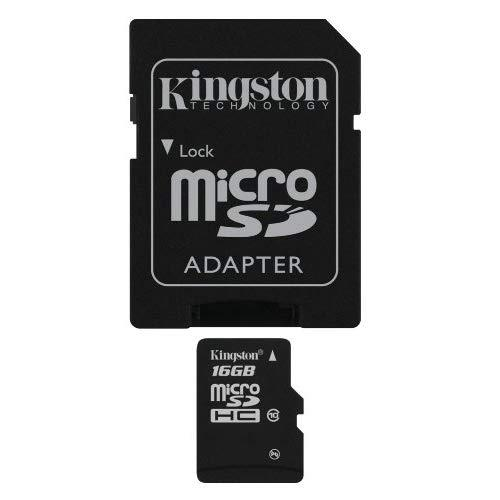 Kingston Digital 16 Gb Microsdhc Class 10 Uhs-1 Memory Card 30Mb/S With Adapter (Sdc10/16Gb)