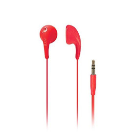 Iluv Iep205Red Bubble Gum 2 Flexible, Jelly-Type Stereo Earphones - Red