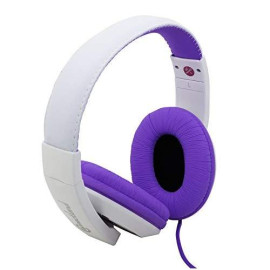 Connectland Over Ear 3.5Mm Wired Headphone, Microphone Lightweight Adjustable Headband For Kids,Teens,Adults. Iphone Ipad Tablet, Purple Cl-Aud63032