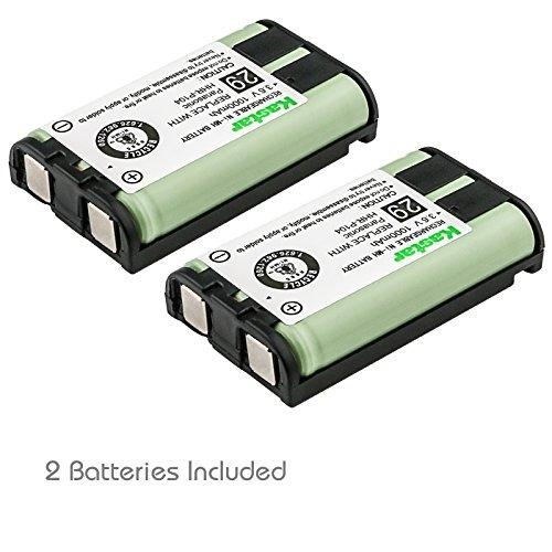 Kastar 2 Pack Cordless Phone Battery For Panasonic Hhr-P104 Hhr-P104A Type 29, Panasonic Kx-Fg6550 Kx-Fpg391 Kx-Tg2388B Kx-Tg2396 And More