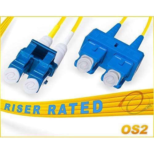 Fibercablesdirect - 6M Os2 Lc Sc Fiber Patch Cable | 10Gb Duplex 9/125 Lc To Sc Singlemode Jumper 6 Meter (19.68Ft) | Length Options: 0.5M-300M | 1Gb 10Gb Sc-Lc Smf Dup Sfp 10Gbase Lr Lx Yellow Ofnr