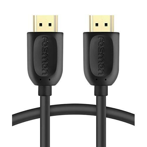 Fosmon 4K Hdmi Cable 6 Ft, Gold-Plated Ultra High Speed [10.2Gbps Uhd 2160P@30Hz 3D Hd 1080P] Supports Fire Tv, Apple Tv, Ethernet, Audio Return, Xbox Playstation Ps3 Ps4 Pc
