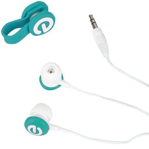 Tabeo Earbuds And Cable Tie - Teal