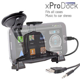 Ibolt Xprodock Active Car Dock/Holder/Mount For Samsung Galaxy S3, S4, Note 2 &Amp; Note 3 With Aux-Out To Car-Speakers. Works With All Cases And Extended Batteries.
