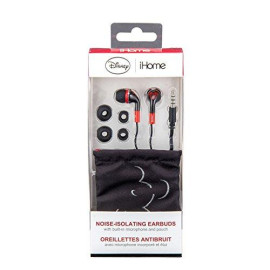 Mickey Mouse Noise Isolating Earphones With Travel Pouch, Dy-M153