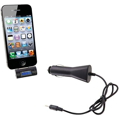 Ilive Wireless Fm Transmitter With Digital Display And 12V Dc Car Adapter For Ipod/Iphone/Ipad (Black)