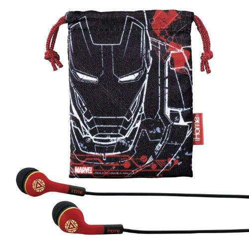 Avengers Iron Man Noise Isolating Earphones With Travel Pouch, Mr-M152