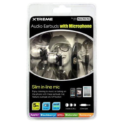 Xtreme Audio Earbuds With Microphone - Retail Packaging - White