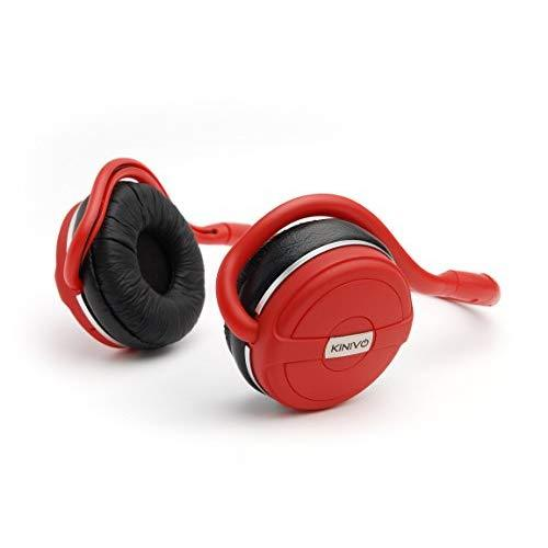 Kinivo Bth240 Bluetooth Headphones (Red, On-Ear, Wireless Music, Hands-Free Calling, Built-In Mic, Foldable, Memory Form Earpads, Travel Bag)
