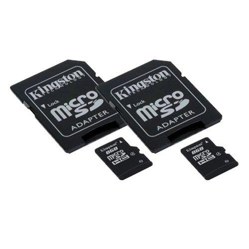 Zte Concord Cell Phone Memory Card 2 X 8Gb Microsdhc Memory Card With Sd Adapter (2 Pack)