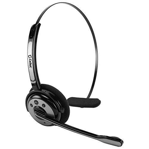 Wireless Trucker Over The Head With Boom Microphone Headphone For Apple Iphone Xs Xs Max Xr X 8 7 6 5 5 Samsung S9 S8 S7 S6 S5 Note 9 8 5 4 3 Lg G6 G5 V20 Google Pixel, All Smartphone - Black/Gray