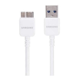 Samsung 3-Foot Data Cable With Usb 3.0 For Galaxy Note 3/S5 - Non-Retail Packaging - White