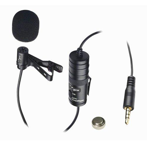 Motorola Mb525 Cell Phone External Microphone Vidpro Xm-L Wired Lavalier Microphone - 20' Audio Cable - Transducer Type: Electret Condenser
