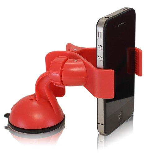 Furinno Hidup Ip11-Pi Easy Mount Suction Universal Car Phone Mount Holder, Red