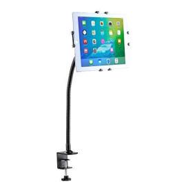 Cta Digital Pad-Gcm Gooseneck Clamp Mount Stand For Ipad 10.2-Inch (7Th Gen.), Air 1-3, Ipad 6, Samsung Galaxy And Other 9.7-10.1 Inches Tablets, Black