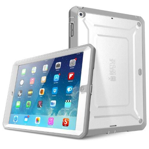 Supcase Heavy Duty Beetle Defense Series Case For Ipad Air, Full-Body Rugged Hybrid Protective Case Cover With Built-In Screen Protector For Apple Ipad Air 1St Gen, Not Fit Ipad Air 2&3 Gen(White)