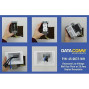 Datacomm Electronics 45-0072-Wh Commercial Grade Recessed Av/Hdmi Cable Conceal Plate With 20 Amp Dual Power Receptacle