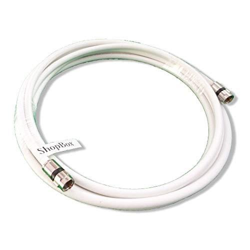 Shopbox White Rg-6 Coax 75 Ohm Cable (High Performance Solid Copper &Amp; Ul Approved) For (Digital, Catv, Satellite Tv, Or Broadband Internet) (12 Foot)