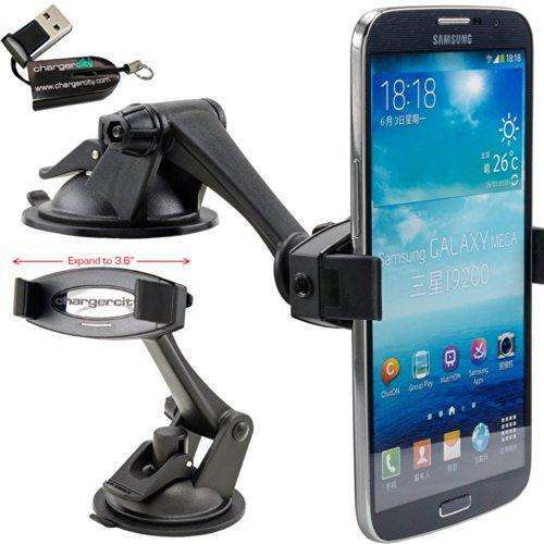 Chargercity Hd-6X Smartphone Holder &Amp; Sticky Dashboard Suction Mount For Samsung Galaxy S9 S10 Note Apple Iphone 11 Pro Xr Xs Max X 8 Plus Lg Google Pixel Xxl