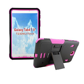 Irhino Protective Case With Built In Kickstand For Samsung Galaxy Tab (4.7-Inch) - Pink