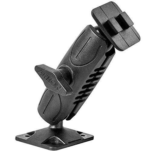 Arkon Heavy Duty 4 Hole Amps Car Or Wall Mounting Pedestal For Dual T Pattern Smartphone And Tablet Holders