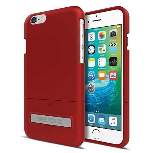 Seidio Surface With Metal Kickstand Case For Iphone 6 Only [Slim Protection] - Retail Packaging - Garnet Red
