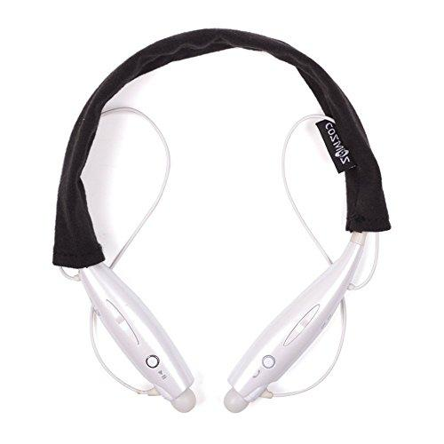 Cosmos Black Soft Cotton Headset Cover/Protector/Sleeve For Lg Tone Pro Ultra Infinim/Tone+ Hbs-730 And Other Lg Tone Stereo Wireless Bluetooth Headset Headphone