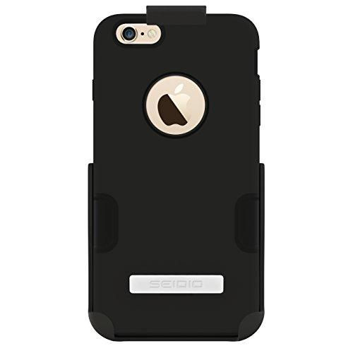 Seidio Dilex Case With Metal Kickstand And Holster Combo For Apple Iphone 6 Plus- Retail Packaging - Black