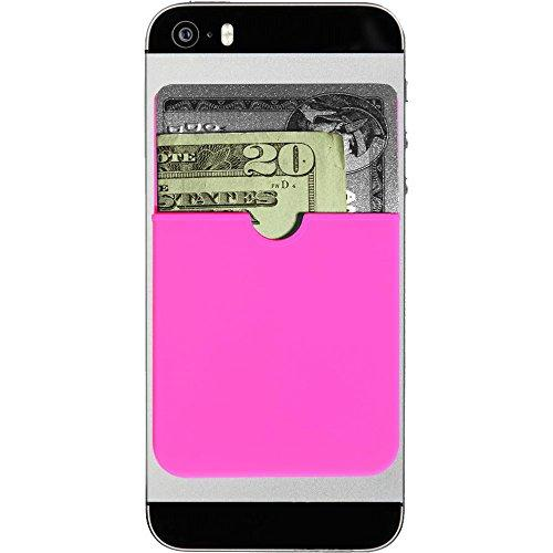 The Original Sticker Wallet Adhesive, Ultra-Thin, Credit Card Wallet, Neon Pink