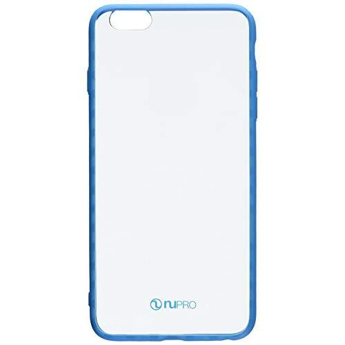 """Iphone 6S Plus Case, Iphone 6 Plus Case, Nupro Lightweight Protective Bumper Case Cover For Apple Iphone 6S Plus (5.5"""" Screen) - Clear/Blue"""