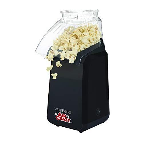 West Bend 82418BK Air Crazy Hot Air Popcorn Popper Pops Up To 4 Quarts of Popcorn Using Hot Air, Black