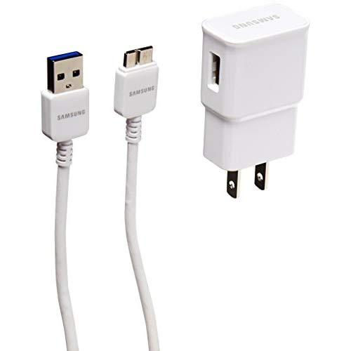 Samsung Oem 2.0A Travel Charger Adapter And 5-Feet Micro Usb 3.0 Cable - Non-Retail Packaging - White