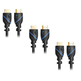 25Ft (7.6M) High Speed Hdmi Cable Male To Male With Ethernet Black (25 Feet/7.6 Meters) Supports 4K 30Hz, 3D, 1080P And Audio Return Cne58703 (3 Pack)