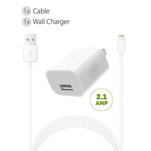Iphone Charger Set Boxgear (2 Pack) For, Iphone Xs, Xs Max, X / 8/8 Plus / 7 Plus / 7 / 6S / 6 Charger Power Adapter Apple Mfi Certified Lightning To Usb Cable Kit By - 2 Cable + 2 Wall Charger