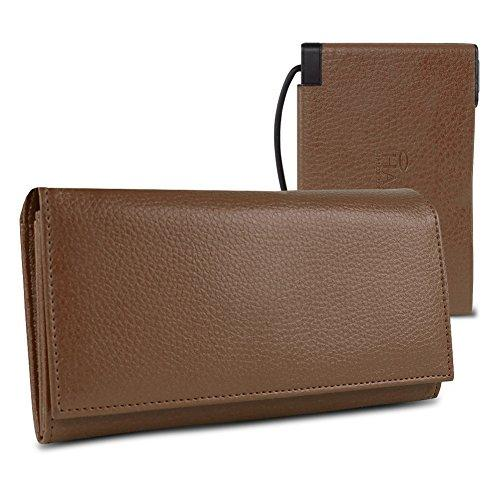 Halo Women'S Power Wallet 3000 W/Rfid Protection (Brown)